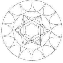 Precious stone Mandala coloring page - Coloring page - MANDALA coloring pages - Mandalas for BEGINNERS