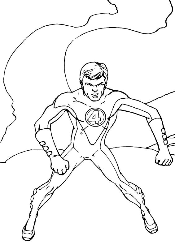 Ausmalbilder Marvel Helden Angel: Mr Fantastic Der Held Zum Ausmalen