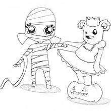 Halloween Bär und Mutter