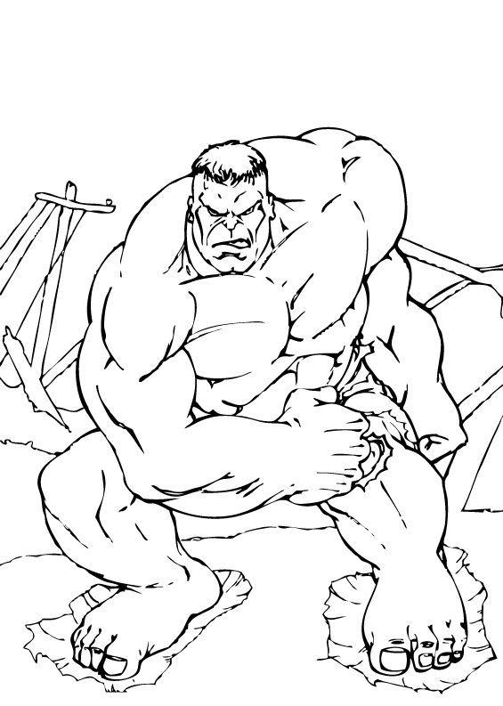 Hulk Bilder Zum Ausmalen: Der Hulk Zum Ausmalen