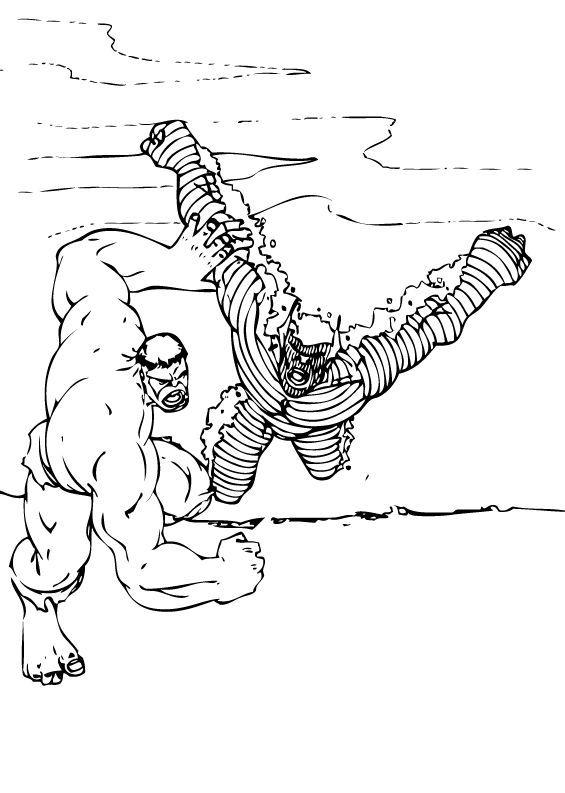 Ausmalbilder Hulk Hulk Zum Ausdrucken: Hulk Und Abomination Zum Ausmalen