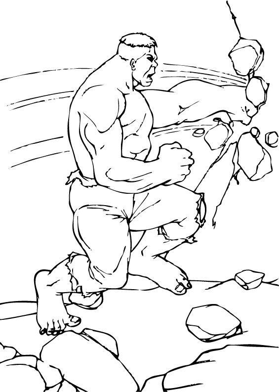 Hulk Bilder Zum Ausmalen: Hulk Zerstört Die Wand Zum Ausmalen