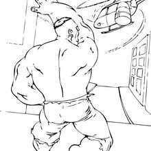 Hulk zerstört einen Helikopter