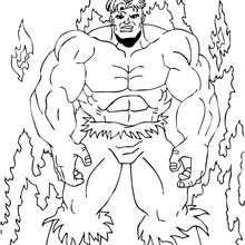 Hulk im Feuer