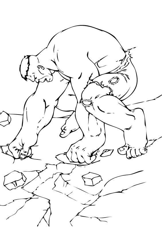 Hulk Bilder Zum Ausmalen: Hulk Ist Erschöpft Zum Ausmalen