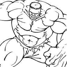 Hulk zeigt seine Muskeln