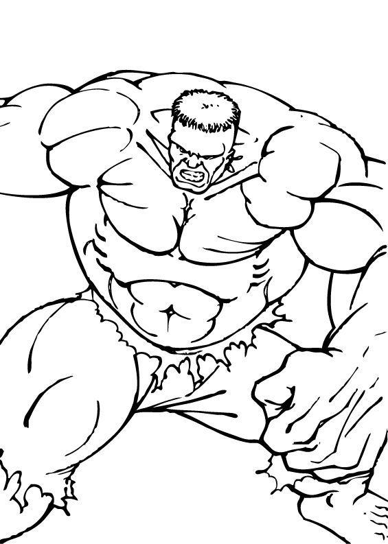 Hulk Bilder Zum Ausmalen: Hulk Zeigt Seine Muskeln Zum Ausmalen
