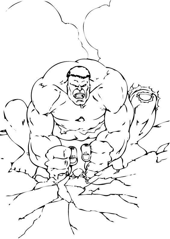 Hulk l sst den boden beben zum ausmalen - Hulk a imprimer ...
