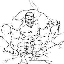 Hulk lässt den Boden beben