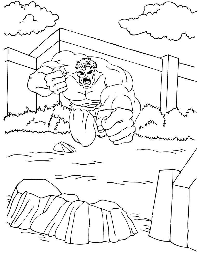 Ausmalbilder Hulk Hulk Zum Ausdrucken: Los Hulk! Zum Ausmalen