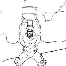 Hulk mit einem Fass