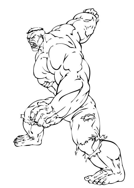 Hulk Bilder Zum Ausmalen: Hulk Bereit Für Den Kampf Zum Ausmalen