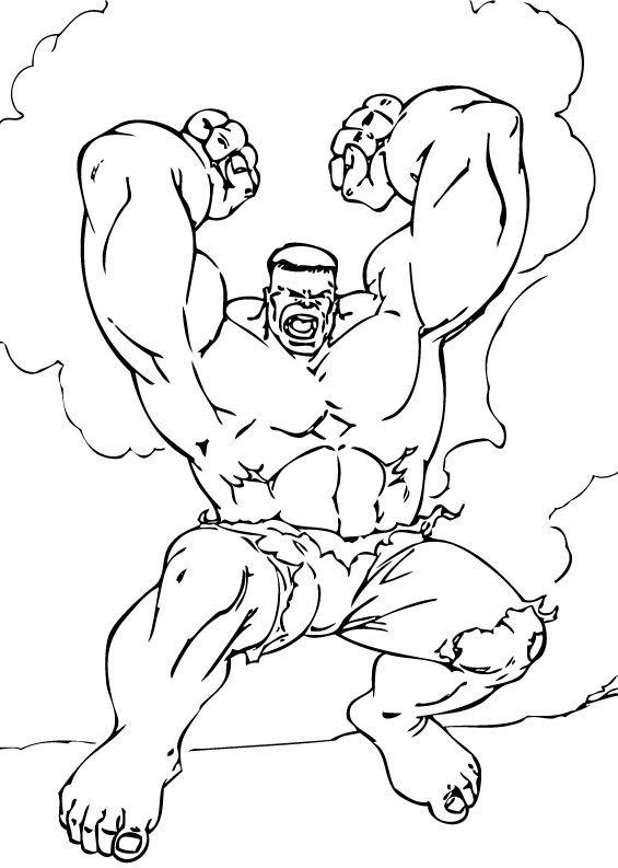 Hulk Bilder Zum Ausmalen: Hulk Wird Wütend Zum Ausmalen