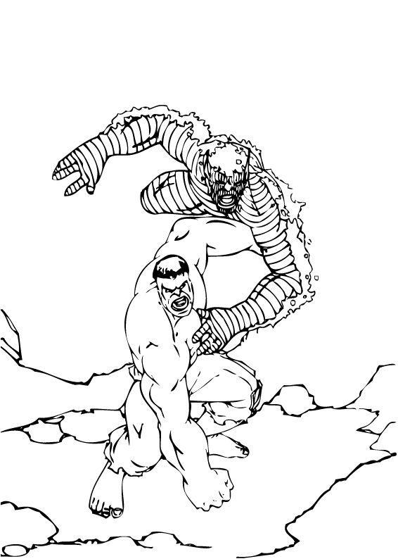 Hulk Bilder Zum Ausmalen: Abomination Duelliert Mit Hulk Zum Ausmalen