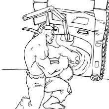 Hulk mit einem Tank