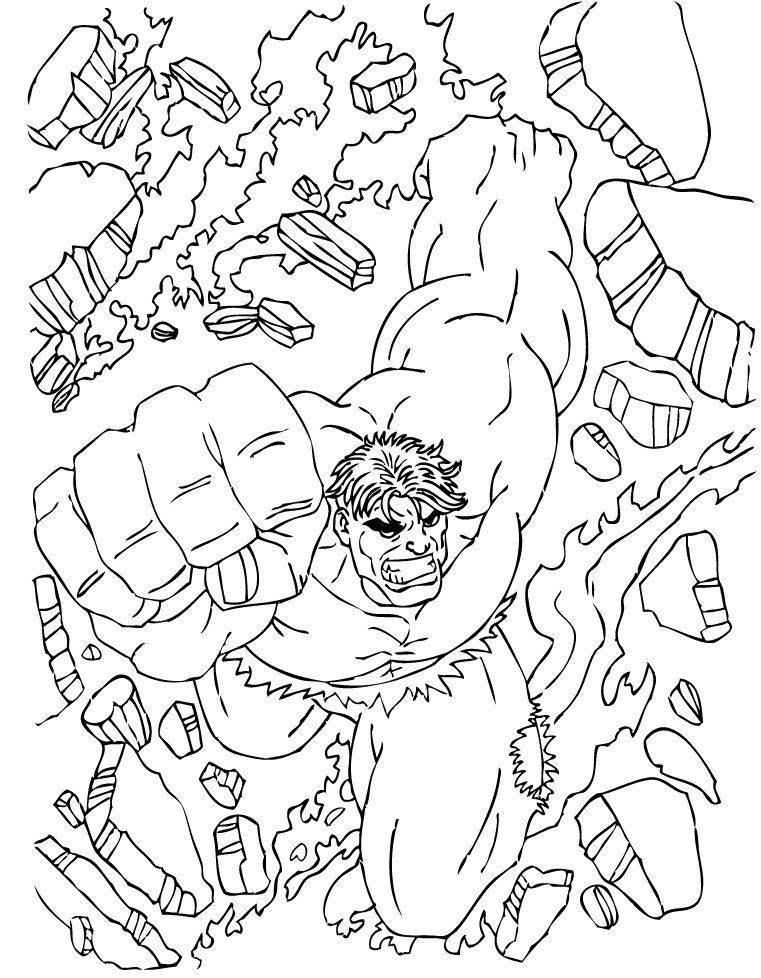 Hulk Bilder Zum Ausmalen: Hulk Kommt Zum Ausmalen