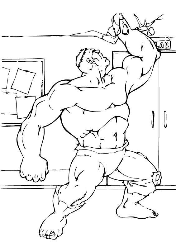 Hulk Bilder Zum Ausmalen: Hulk Zerstört Die Decke Zum Ausmalen