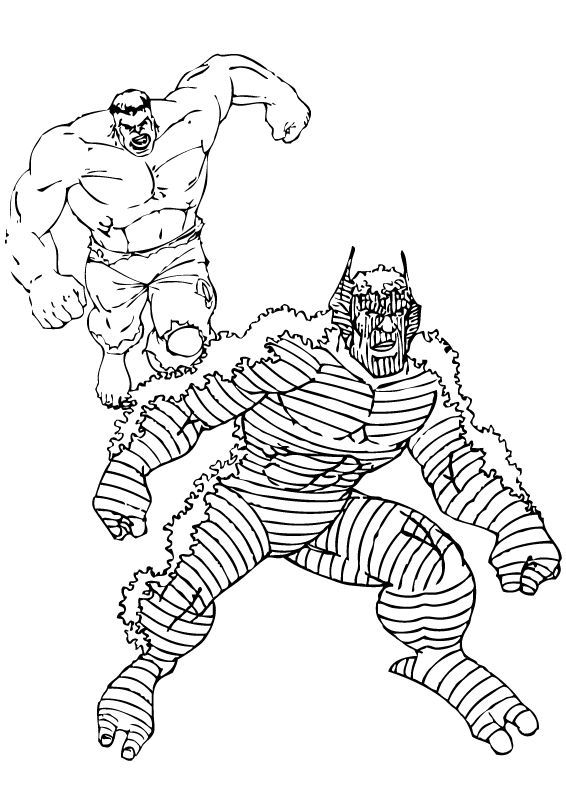 Hulk Bilder Zum Ausmalen: Hulk Vs Abomination Zum Ausmalen