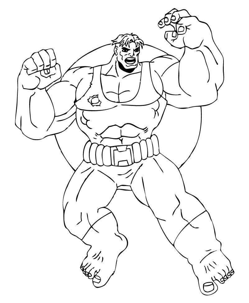 Hulk Bilder Zum Ausmalen: Riesiger Hulk Zum Ausmalen