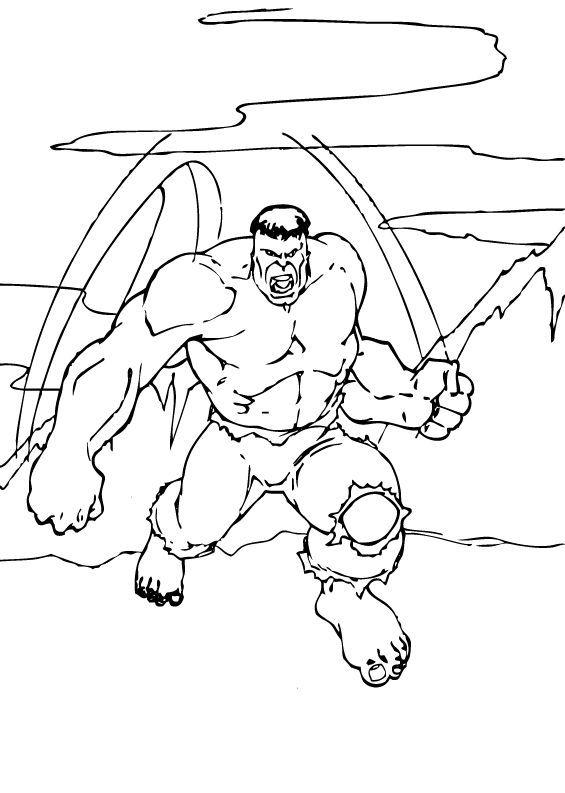 Ausmalbilder Hulk Hulk Zum Ausdrucken: Gefährlicher Hulk Zum Ausmalen