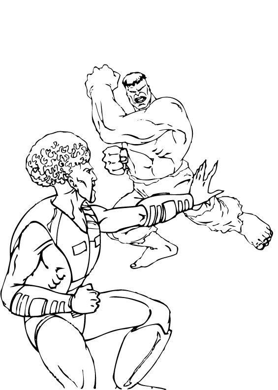 Hulk Bilder Zum Ausmalen: Der Graue Hulk Vs Hulk Zum Ausmalen