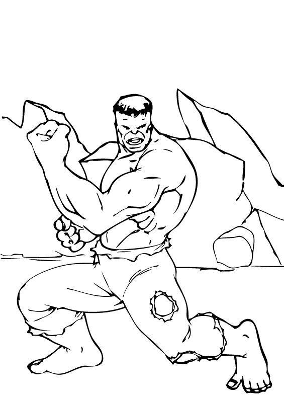 Hulk Bilder Zum Ausmalen: Hulk Hat Kräftige Arme Zum Ausmalen