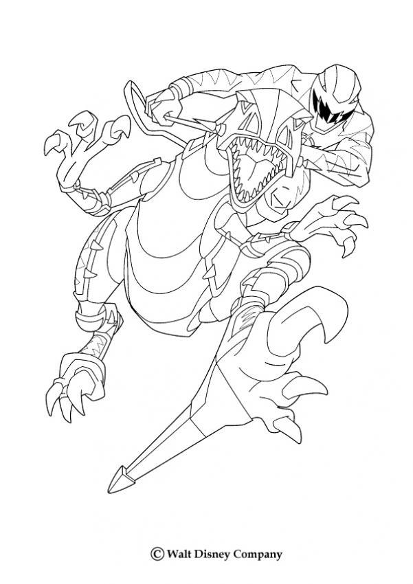 Ninja und dino zum ausmalen - Coloriage robot dinosaure ...