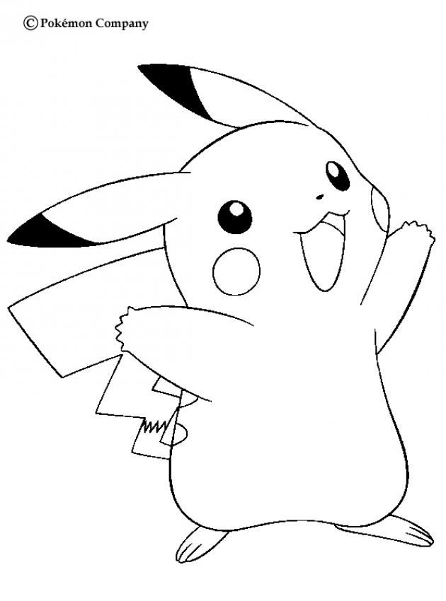 Glucklicher Pikachu Zum Ausmalen De Hellokids Com