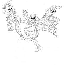 Power Rangers im Kampf