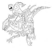 Power Rangers mit Dino dem Roboter
