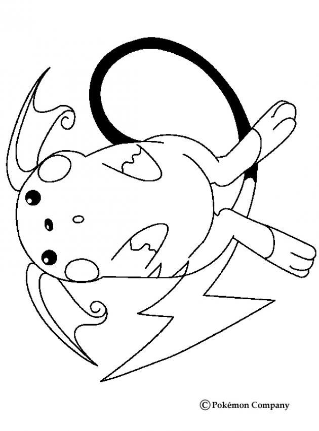 Raichu Pokemon Zum Ausmalen De Hellokids Com