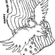 Weißkopfseeadler mit Amerikanischer Flagge