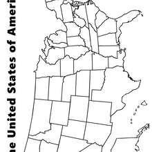 Karte der USA zum Ausmalen