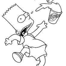 Bart mit seinem Getränk