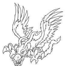 Digimon Birdramon zum Ausmalen