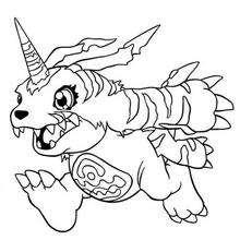Digimon Gabumon zum Ausmalen