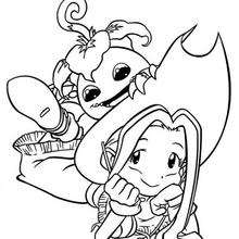 Mimi und Yokomon Malbogen