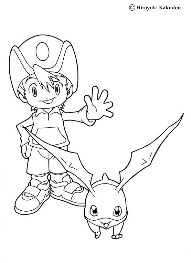 Tk und patamon zum ausmalen zum ausmalen for Digimon coloring pages