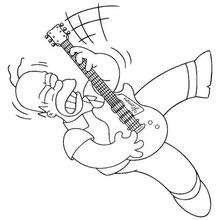 Homer spielt Gitarre