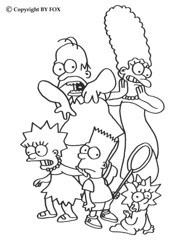 gruselige simpsonsfamilie zum ausmalen  dehellokids