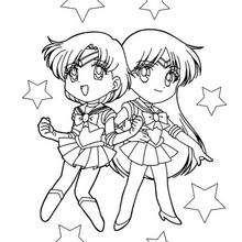 Zwei kleine Sailor Freunde