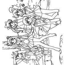 Sailor Mädchen vereint