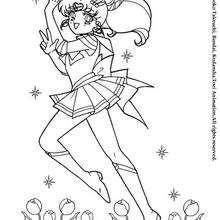 Sailor Moon umgeben von Blumen