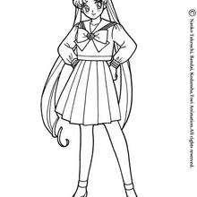 school uniforms coloring pages   Anime School Uniform Drawing Sketch Coloring Page