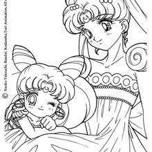Sailor Moon mit einem Prinzessinnenkleid