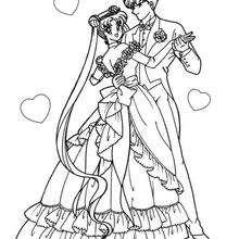 Sailor Moon mit ihrem Freund