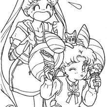 Sailor Moon Und Sailor Chibi Moon Zum Ausmalen De