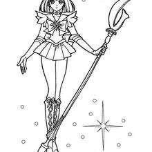 Sailor Saturn in ihrer ursprünglichen Uniform