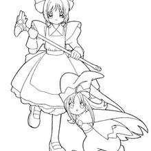 Sakura und ein kleines Mädchen