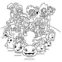 Alle Digimon Helden Malbogen